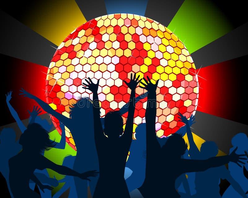 Χορεύοντας σκιαγραφίες εφήβων ελεύθερη απεικόνιση δικαιώματος