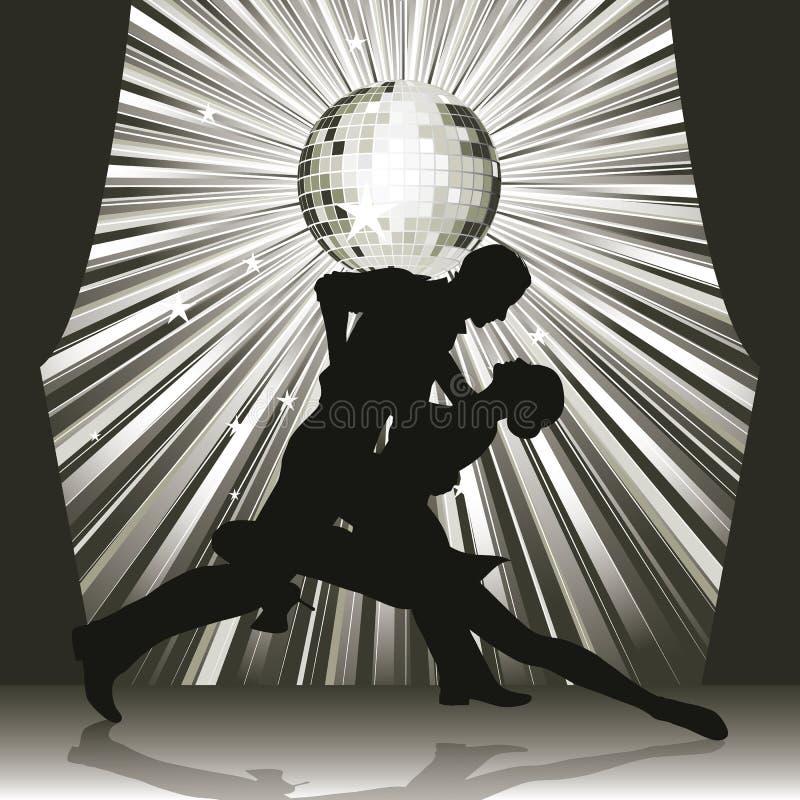 χορεύοντας στάδιο ζευγ ελεύθερη απεικόνιση δικαιώματος