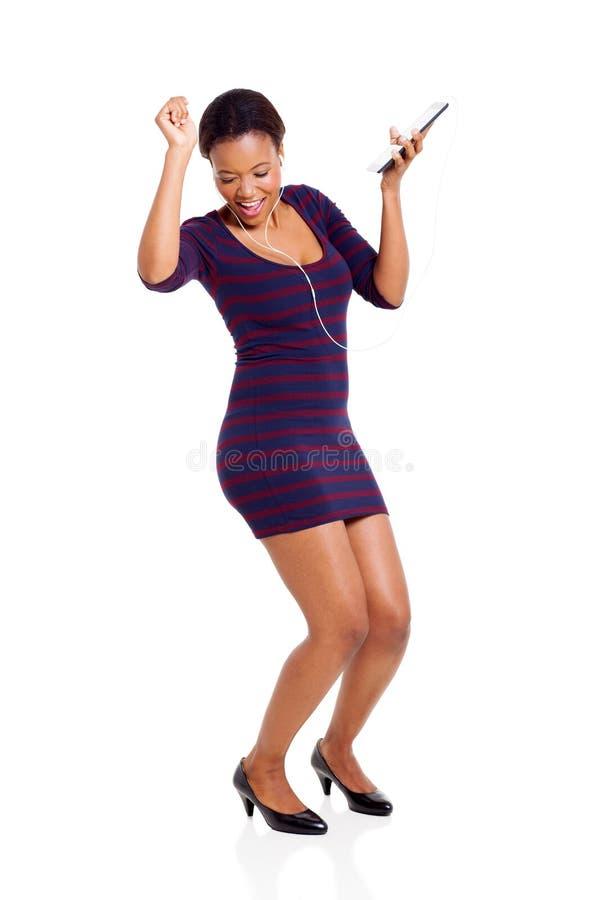 Χορεύοντας ταμπλέτα γυναικών στοκ εικόνες με δικαίωμα ελεύθερης χρήσης
