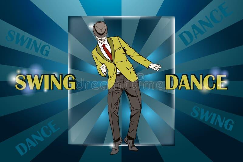 Χορεύοντας ταλάντευση χορών τύπων διανυσματική απεικόνιση