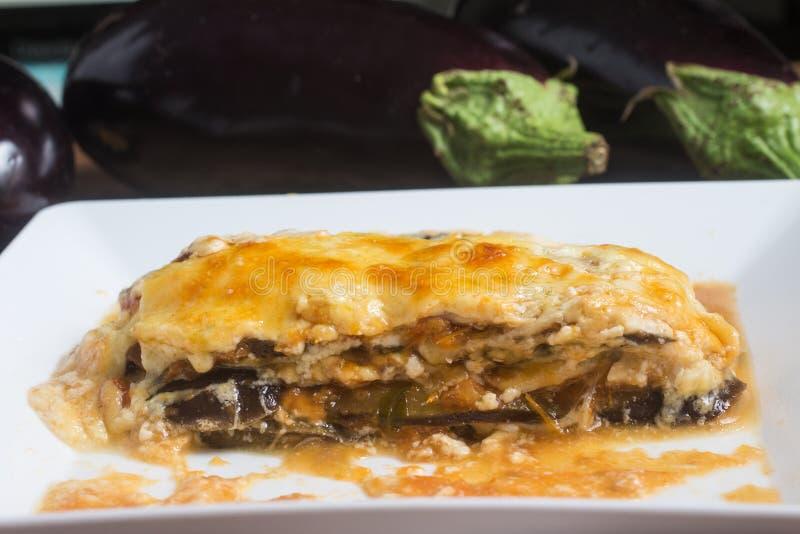 Χορτοφάγος μελιτζάνα Lasagna στοκ φωτογραφία με δικαίωμα ελεύθερης χρήσης