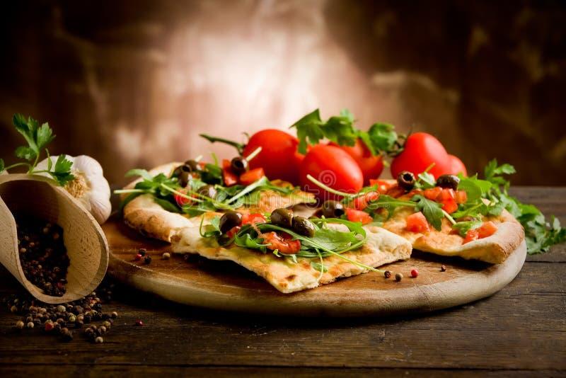 χορτοφάγος πιτσών στοκ εικόνες