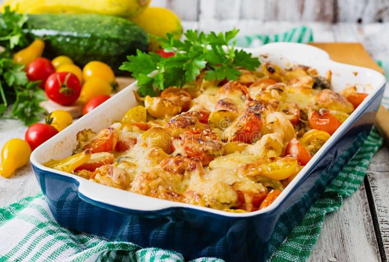 Χορτοφάγο φυτικό casserole στοκ εικόνα