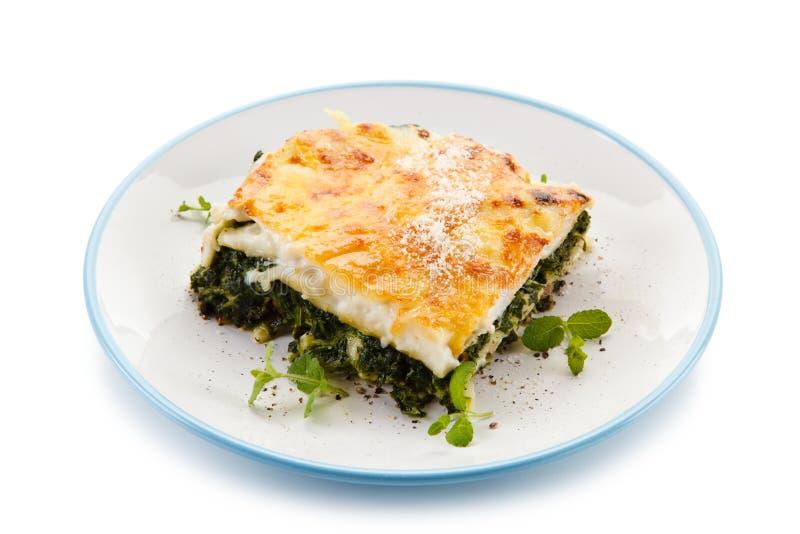 Χορτοφάγο lasagna με το σπανάκι στοκ φωτογραφίες με δικαίωμα ελεύθερης χρήσης