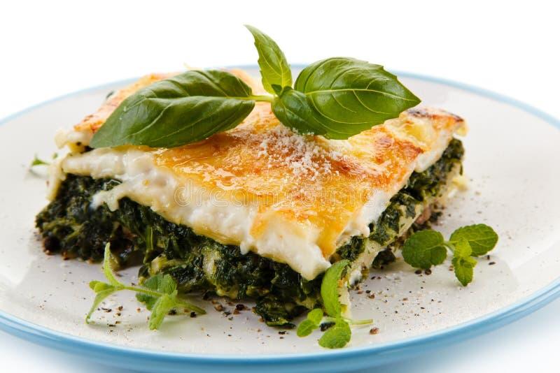 Χορτοφάγο lasagna με το σπανάκι στοκ φωτογραφία με δικαίωμα ελεύθερης χρήσης