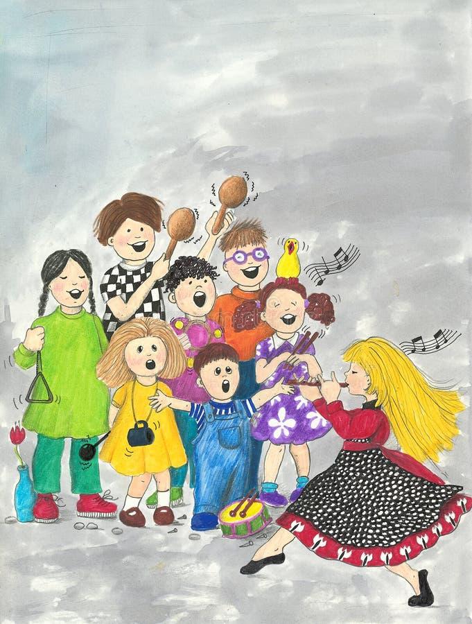 χορωδία s παιδιών ελεύθερη απεικόνιση δικαιώματος