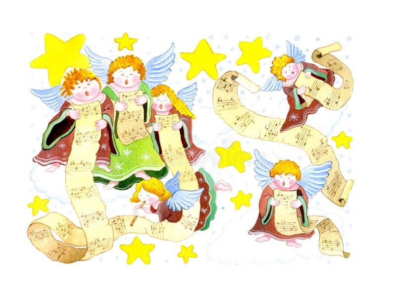 χορωδίες αγγέλων διανυσματική απεικόνιση