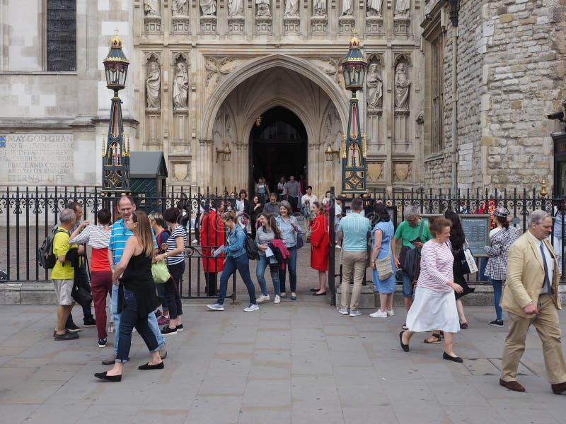 Χορωδιακή υπηρεσία Evensong μοναστήρι του Westminster στο Λονδίνο στοκ εικόνες