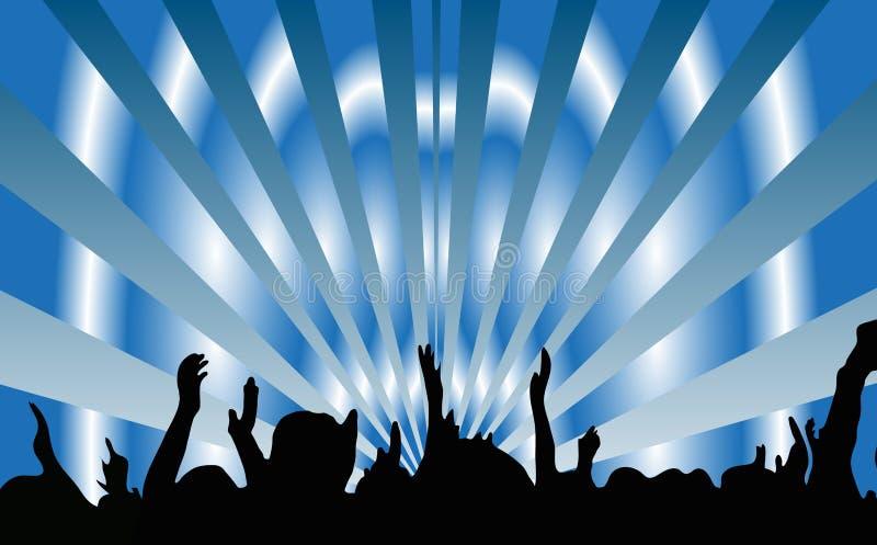 Χορός ανθρώπων κόμματος ελεύθερη απεικόνιση δικαιώματος
