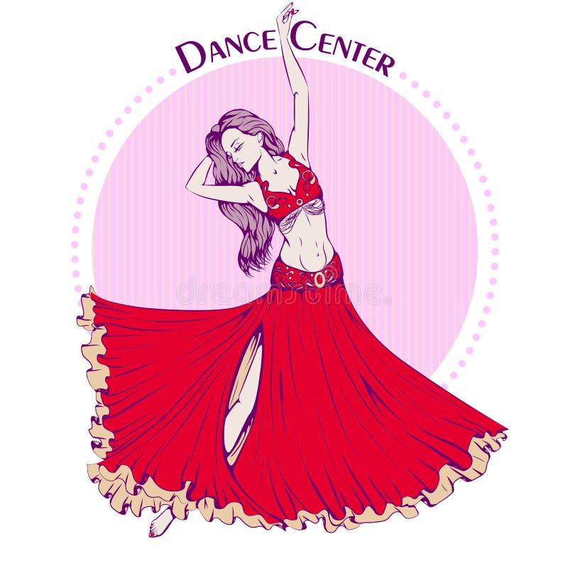Χορός κοιλιών χρώματος γραμμών χορού διανυσματική απεικόνιση