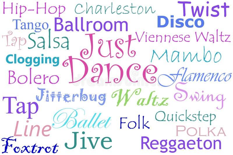 χορός κολάζ ακριβώς απεικόνιση αποθεμάτων