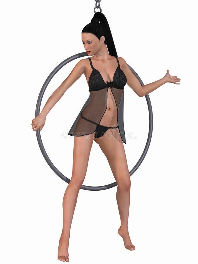 χορός κύκλων προκλητικός απεικόνιση αποθεμάτων