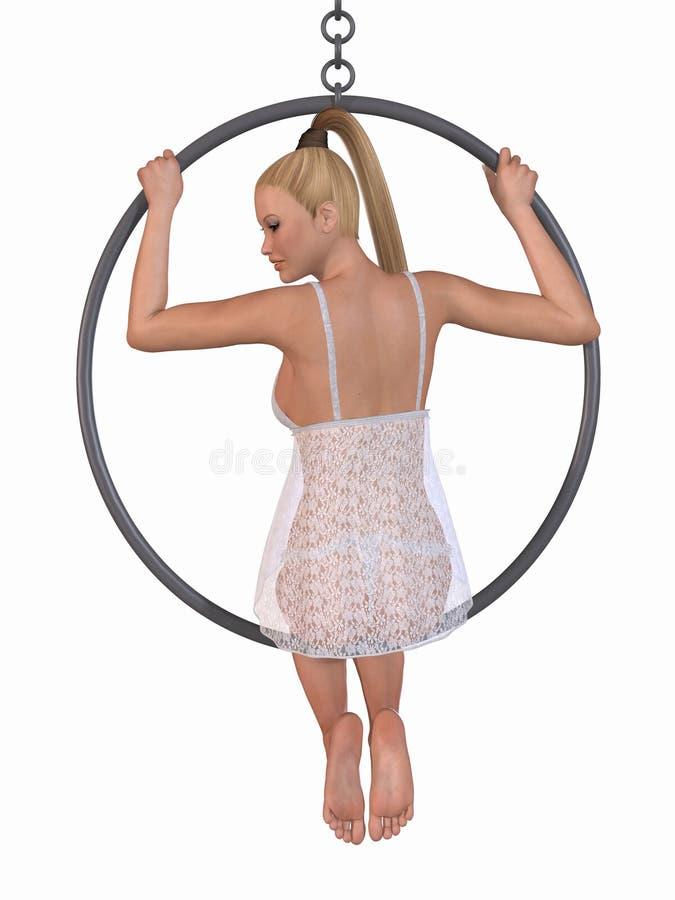 χορός κύκλων προκλητικός διανυσματική απεικόνιση
