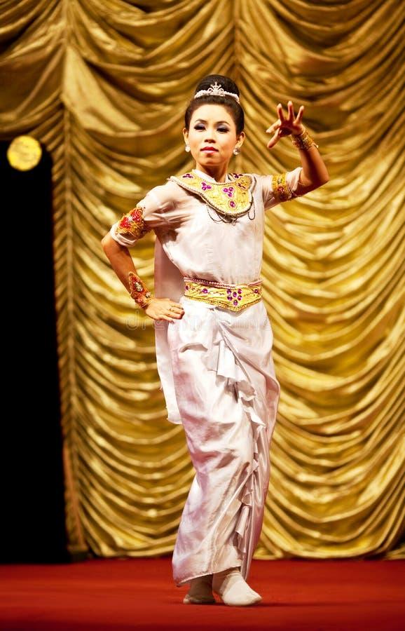 χορός λαϊκή Myanmar στοκ εικόνες