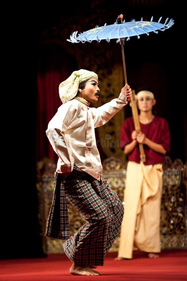 χορός λαϊκή Myanmar στοκ φωτογραφία
