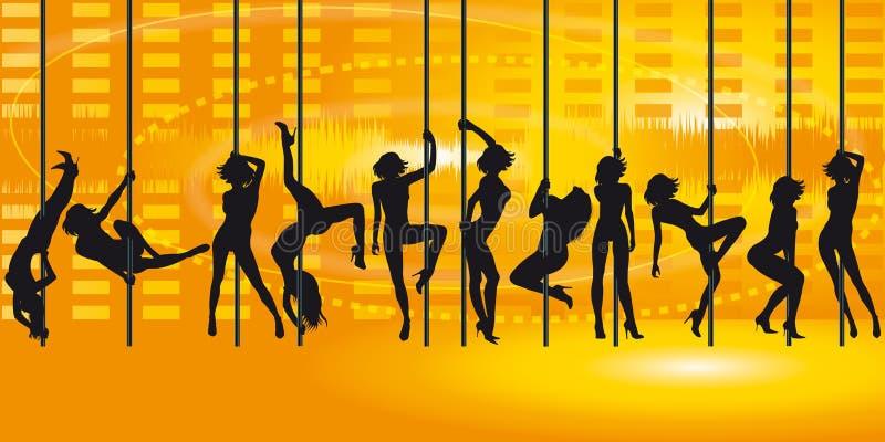 Χορός περιτυλίξεων διανυσματική απεικόνιση