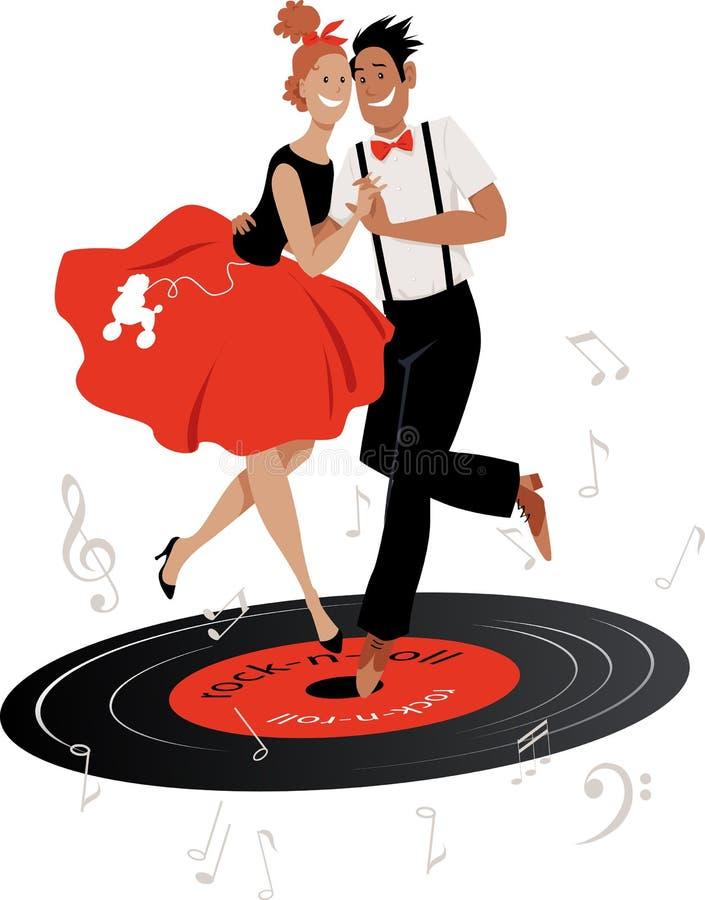 Χορός στο 50ο απεικόνιση αποθεμάτων