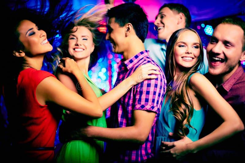 Χορός στο disco στοκ εικόνα