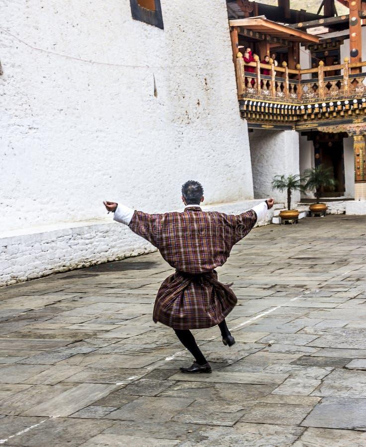 Χορός στο dzong στοκ εικόνα με δικαίωμα ελεύθερης χρήσης