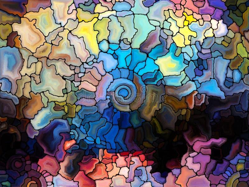 Χορός του λεκιασμένου γυαλιού απεικόνιση αποθεμάτων
