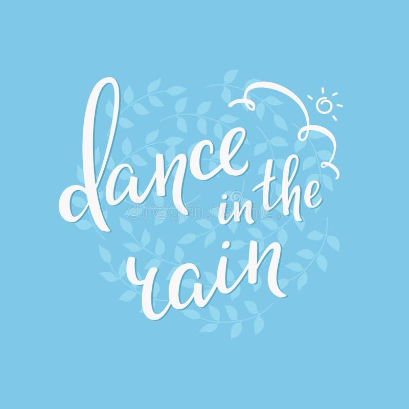 Χορός τυπογραφίας θερινής εγγραφής στη βροχή απεικόνιση αποθεμάτων