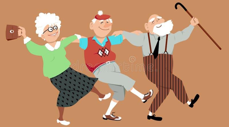 Χορός χορού Zorba ελεύθερη απεικόνιση δικαιώματος