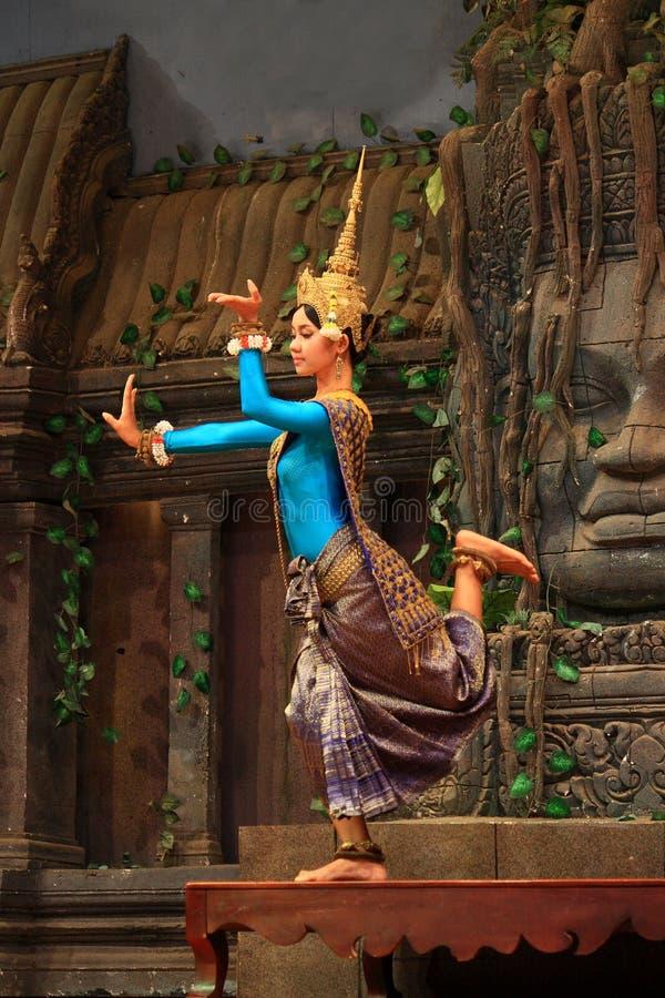 Χορός Apsaras στοκ φωτογραφία