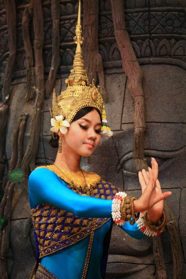Χορός Apsaras στοκ εικόνες