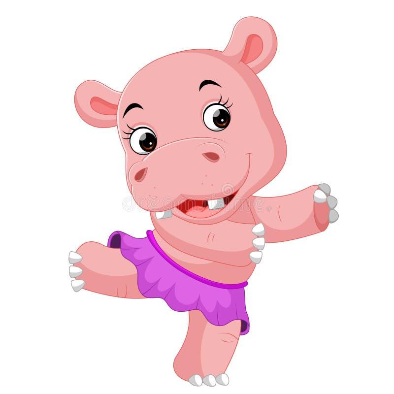 Χορός Hippo απεικόνιση αποθεμάτων