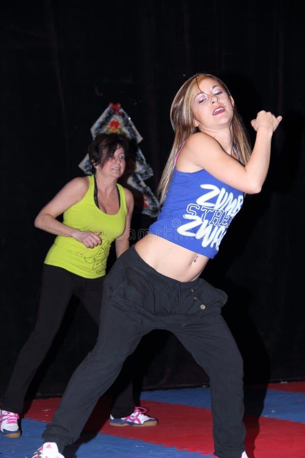 Χορός Zumba στοκ φωτογραφία