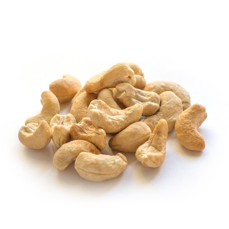 Χούφτα καρυδιών των δυτικών ανακαρδίων Υγιές χορτοφάγο συστατικό τροφίμων στοκ εικόνα