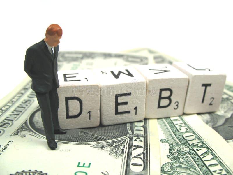 χρέος επιχειρηματιών στοκ φωτογραφία με δικαίωμα ελεύθερης χρήσης