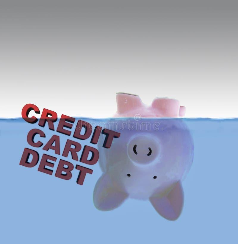 Χρέος πιστωτικών καρτών στοκ φωτογραφία με δικαίωμα ελεύθερης χρήσης