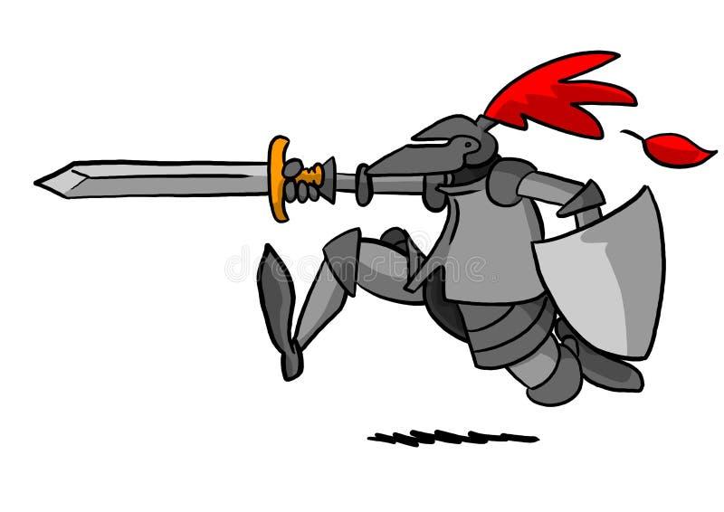 Χρέωση ιπποτών στοκ φωτογραφία