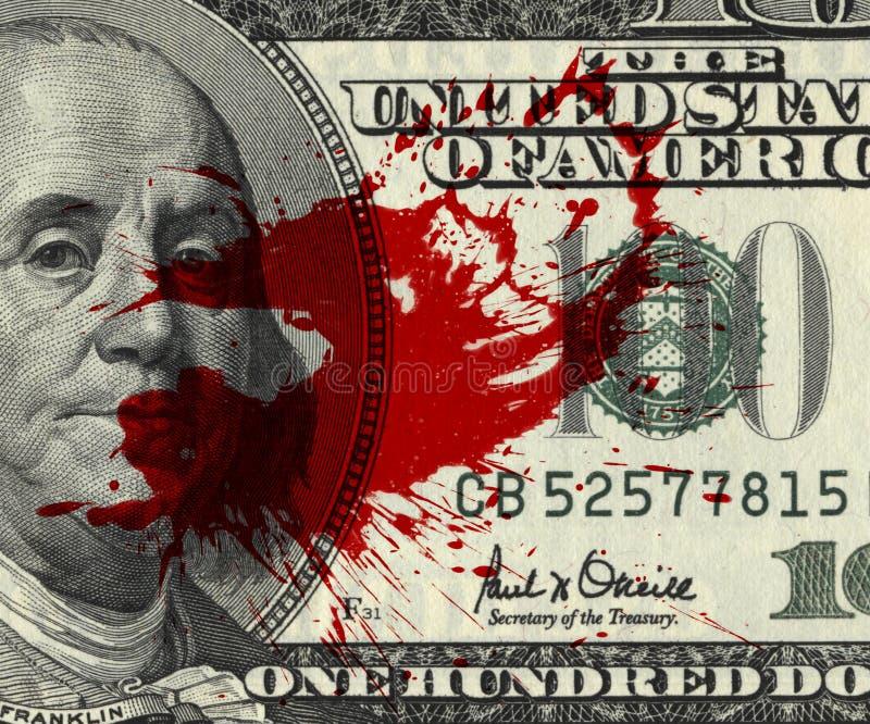 Χρήματα αίματος στοκ φωτογραφίες με δικαίωμα ελεύθερης χρήσης