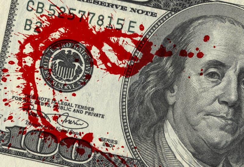 Χρήματα αίματος στοκ φωτογραφίες