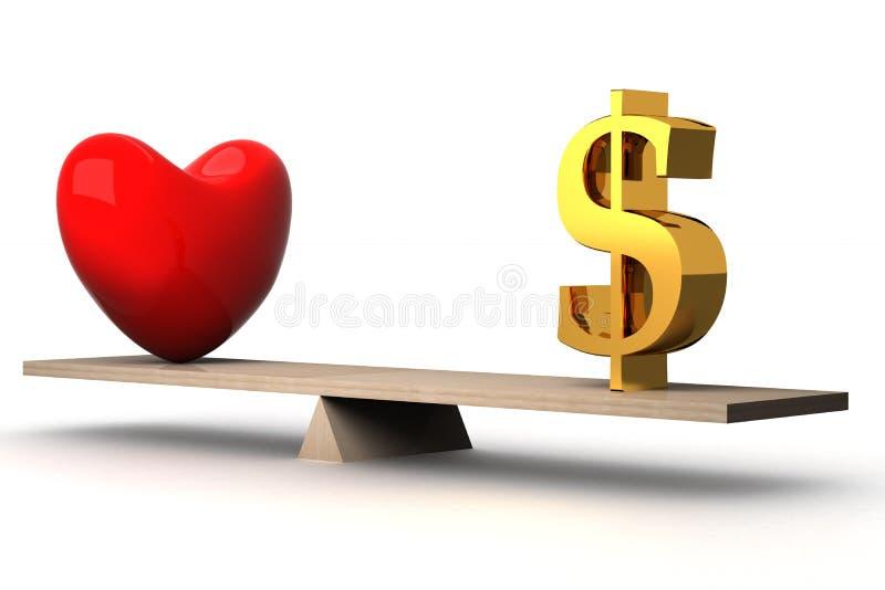 χρήματα αγάπης έννοιας επι&l ελεύθερη απεικόνιση δικαιώματος