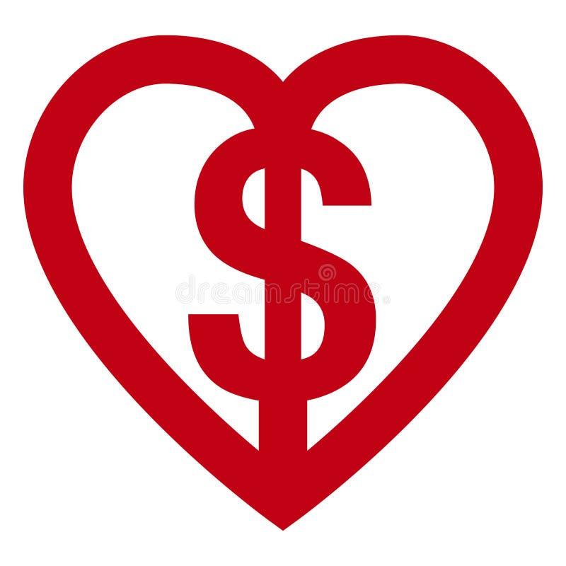 χρήματα αγάπης ελεύθερη απεικόνιση δικαιώματος