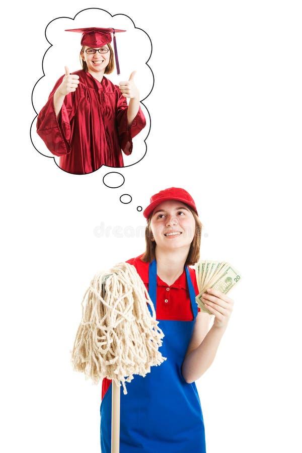 Χρήματα αποταμίευσης για το κολλέγιο στοκ εικόνες