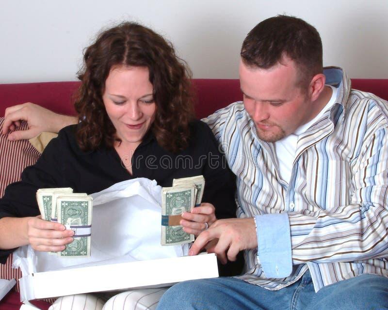 χρήματα απροσδόκητα στοκ εικόνα