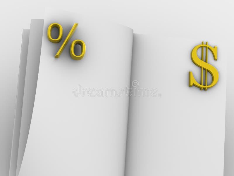 χρήματα βιβλίων απεικόνιση αποθεμάτων