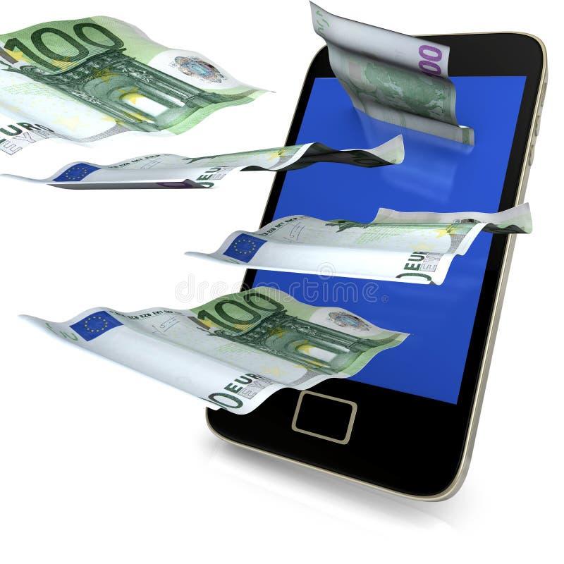Χρήματα δαπανών Smartphone ελεύθερη απεικόνιση δικαιώματος