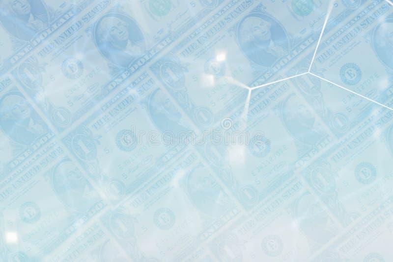 Χρήματα δολαρίων και οικονομικό δίκτυο στοκ εικόνες με δικαίωμα ελεύθερης χρήσης