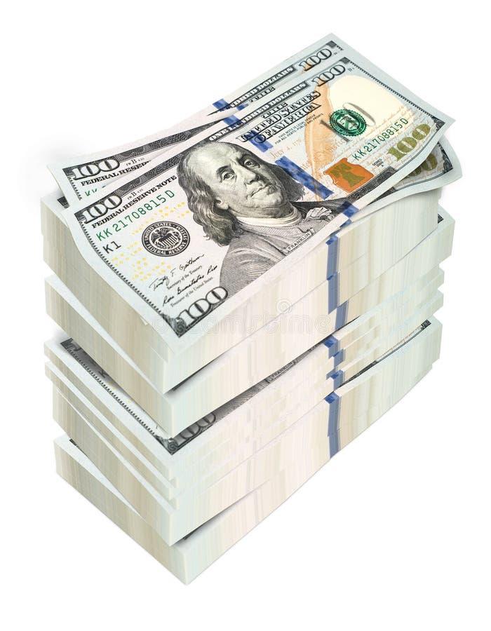 Χρήματα δολαρίων τρισδιάστατα με το ψαλίδισμα της πορείας ελεύθερη απεικόνιση δικαιώματος