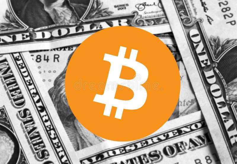 Χρήματα εικονιδίων Cryptocurrency Bitcoin στοκ εικόνες