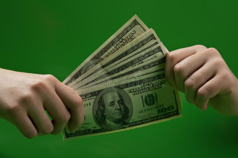 Χρήματα εκμετάλλευσης γυναικών στοκ εικόνες