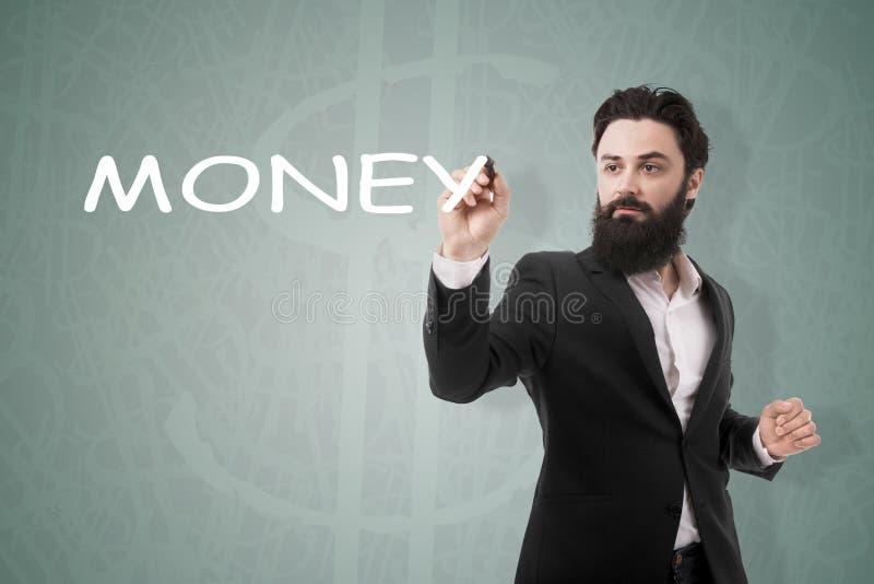 Χρήματα επιγραφής γραψίματος ατόμων στοκ εικόνες με δικαίωμα ελεύθερης χρήσης