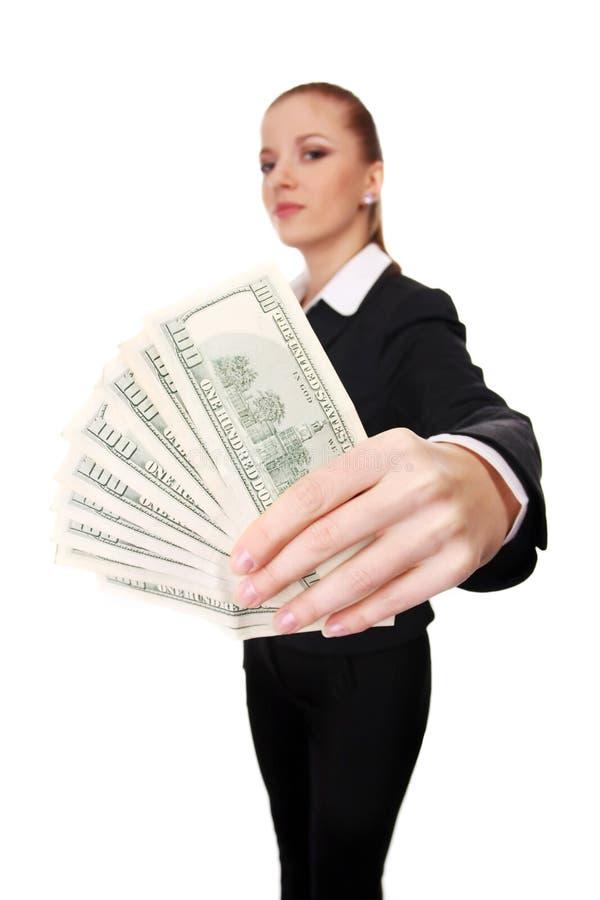 χρήματα επιχειρηματιών στοκ εικόνα