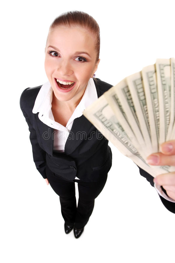 Download χρήματα επιχειρηματιών στοκ εικόνα. εικόνα από χαμόγελο - 13179785