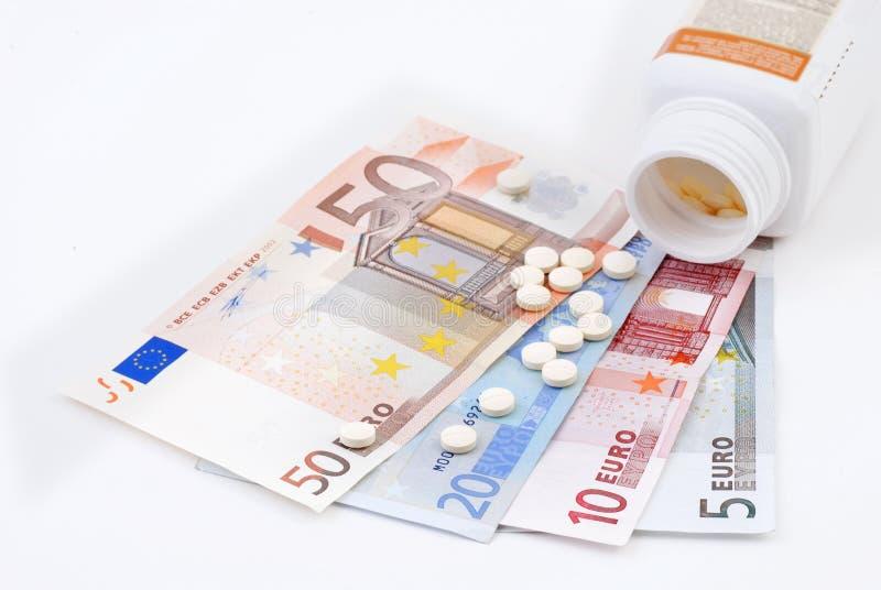 χρήματα ιατρικής στοκ εικόνα
